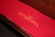 Schimmel Piano Key Cover - Red Felt Embroidered Keyboard Cover
