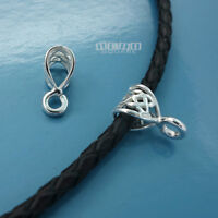 2 PC Solid Sterling Silver Web Pendant Bail Connector w/ Open Loop #33497