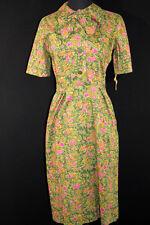 RARE 1950'S DEADSTOCK FLORAL COTTON DRESS SIZE 6