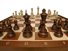 "Tournament No.5 Wood Chess Set  - Folding 19"" board - 2"" sq - 3 1/2"" King"