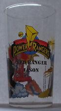 Verre à moutarde long drink POWER RANGERS 1994. Red Ranger Jason. VM978
