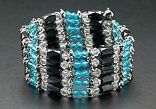 Magnetic Hematite Beads Wrap Around Bracelet Blue Crystals Therapy Necklace