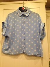 Blue Spot Print Top 8