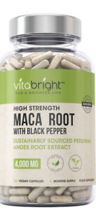MACA ROOT Capsules 4000mg 6 MONTHS SUPPLY 180 Vegan Caps Peruvian Max Strength