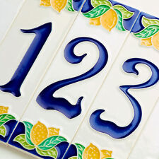 Numero Civico Limoni - Ceramica Luciano Italy - cm.4,7 x 15 - Plaque Sign