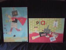 Rare Oopsy Daisy Winborg Sisters Robots Canvas Wall Art Superhero Robots 10x14