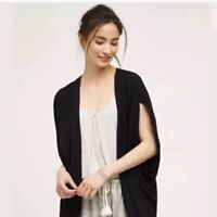 NWT Anthropologie Elevenses Black Kimono Open Front Cardigan Size XS/S