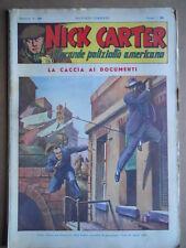 Nick Carter Il Grande poliziotto americano Anni 40 n°20 ed. NERBINI  [G369]