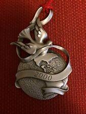 2000 Avon Pewter Peaceful Millennium Christmas Ornament