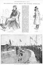 1893  Antique Print - NETHERLANDS Groningen Skating Meeting Eden Ericsson (186)