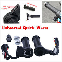 12V Motorcycle / Motorbike Heated Grips Handlebar Keep Warm Hands Hot Pair New