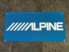 Alpine banner sign shop wall garage stereo speakers car audio woofer amplifier