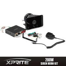 Xprite 200W 12V Loud Speaker PA Horn Siren System Mic Kit Police Car Fire Truck