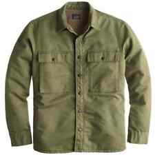 MENS-J-CREW-SHERPA-LINED-MILITARY-JACKET-SIZE SMALL-SOLD-OUT