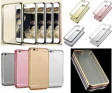 TPU Chrome Transparent Bumper Gel Case Cover Pouch For iPhone 6 6S 7 7G 7 Plus