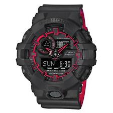Casio G-SHOCK GA700SE-1A4 Black Red Super Illuminator Analog Digital Men's Watch