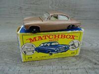 Matchbox Lesney Vintage 1960's No 28 Jaguar MK 10 Diecast Toy Car Boxed