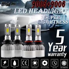 4x 9005 + 9006 Combo LED Headlight Kit 200W 40000LM Hi/Lo Beam Bulbs 6000K White