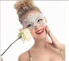 Maske Augenmaske Spitzenmaske Fasching Verkleidung schwarz weiss Karneval Gothic