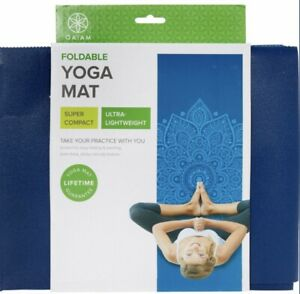 GAIAM Foldable Travel Mat Blue Sundial 2mm
