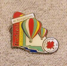 '86 FESTIVAL DE MONTGOLFIERES DU HAUT RICHELIEU CHAMPIONNAT CANADIEN BALLOON PIN