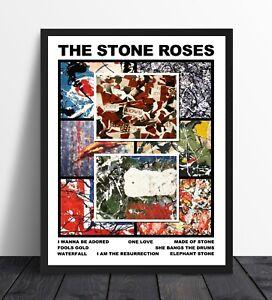 The Stone Roses - Singles Art Poster - Unique Artwork - Various Sizes