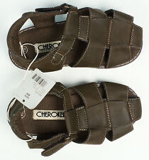 Boys' Brown Sandals Straps Cherokee James Size 10 New Nwt