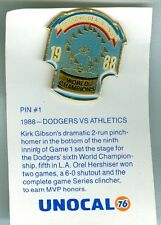 1989 LA Dodgers Beat Athletics 1988 World Champions Unocal Pin 1 of 6
