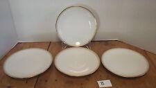 """4 pcs. 7 1/2"""" plates Wm. Guerin & Co Limoges porcelain w/ gold trim B"""