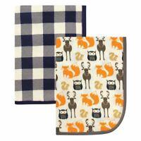 Hudson Baby Boy Swaddle Blanket, 2-Pack, Forest