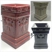 Classic Cross Ceramic Electric Scent Oil Tart Lamp Burner Diffuser Warmer Aroma