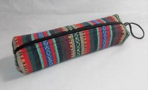 Fair Trade Pencil Make Up Case Hippy Boho Hippie School Hand Made From Nepal