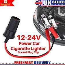Encendedor De Cigarrillos para Coche Adaptador de enchufe de alimentación portátil 12 V con Clip de Cocodrilo