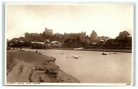 Vintage Picture Postcard Windsor Castle from Brocas rowing boats Berkshire