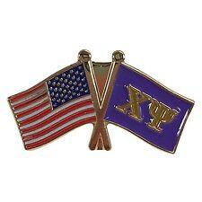 Chi Psi Flag and USA Flag Lapel Pin
