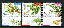 Israel 2017 estampillada sin montar o nunca montada plantas aromáticas incienso MIRRA 3v Conjunto Flores Sellos