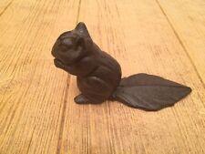 """Squirrel Wedge Door Stop Cast Iron 7"""" tall Home & Garden Decor 0184J-0128"""