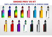 Authentic SMOK PRIV V8 Vape Pen Starter Kit Mod TFV8 Baby Tank 2ML V8 M2 Coil UK
