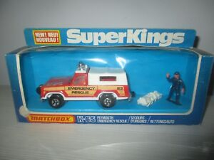 AUTOMODELLO EMERGENCY K-65 PLYMOUTH RESCUE  MATCHBOX  SUPERKINGS