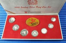 1995 Singapore Sterling Silver Proof Coin Set (1¢ - $5 Coin)