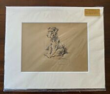 Lucy 'Mac' Dawson Authentic 1937 Matted Dog Print - Lakeland Terrier - Trig