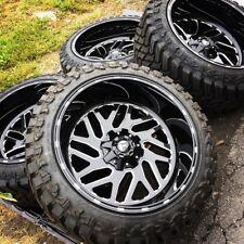 "22x12 Fuel D581 Triton 33"" Atturo Mt Wheel & Tire Package 8x180 Chevy Silverado"