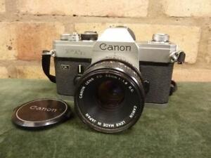 Nice vintage Canon FTB QL 35mm camera 1:1.8 50mm  S.C lens
