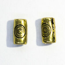 100 pieces Bronze Tube Swirl Spacer Beads - A0560