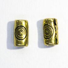 Tubo de bronce 100 piezas del remolino espaciador granos-A0560