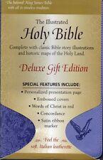 KJV Gift Holy Bible, Illustrated, Dove Design, Lavender, Italian Leatherette,New