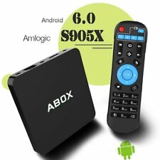 Android 6.0 TV Box Abox Fire Stick Amlogic S905X 64 Bits and True 4K Playing