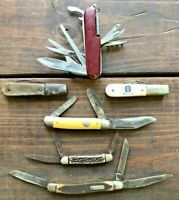 Vintage Texas Pocket Knife Lot Barlow, Schrade, Colonial, Imperial