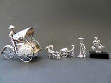 5 x (Dutch) silver miniatures 835/1000 & 800/1000