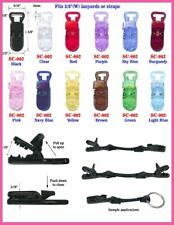 LOT -108 pcs Plastic T-Style Clip Name Badge Nametag ID Tag Baby Pacifier Strap